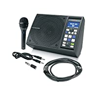 """TC-Helicon SINGTHING.9"""" 对开式 黑色 平板电脑保护套 Vocal 处理器和扬声器 (996552011)"""