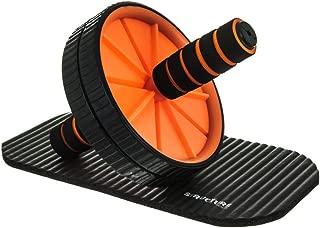 结构健身腹肌滚轮带垫子 - 带垫腹肌滚轮是理想的家用健身器材,用于改善上身、核心肌肉、耐力和灵活性