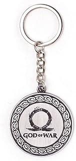 索尼 Playstation BIO-KE253314GDW 战争之神标志金属吊坠钥匙链,银色,10 厘米,灰色