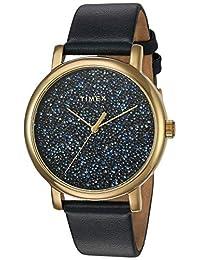 TimexTW2R98100JT analog genuine-leather 蓝色 TW2R98100JT dress-watches