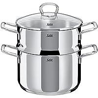 silit Style 蒸锅带盖,银色,20 厘米