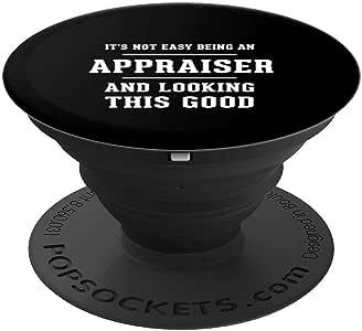 Appraiser Clerk 工作纪念日礼物 - PopSockets 手机和平板电脑握架260027  黑色