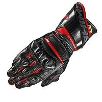 SHIMA RS-2,夏季皮質賽車*面料男士2018夏季摩托車手套帶Ce 標志保護摩托車(S-XXL) L 紅色 RS-2 RED L
