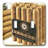 3dRose LLC lsp_35349 2 Up Close Cigars 双钮子开关