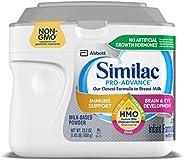 Abbott 雅培 Similac 铂优恩美力 Pro-Advance 含铁的婴幼儿奶粉,带有2'-FL HMO,有益于人体,23.2盎司,
