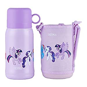 THERMOS 膳魔师 不锈钢 保温/保冷 带背套 吸管杯 直饮杯两用 水杯 水壶 紫色550ml (TCKA-550 MP001)
