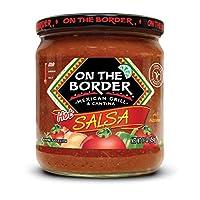 On The Border Original Hot Salsa, 16-Ounce Jar (Pack of 8)