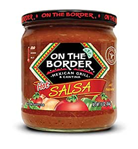 On The Border Original Hot Salsa, 16-Ounce Jar (Pack of 8)