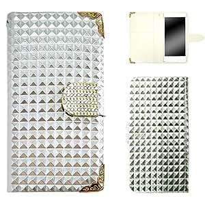 whitenuts 保护壳 手册式 漆皮 装饰品WN-OD092117 21_ ELUGA P P-03E 银