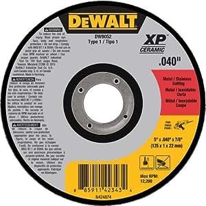 DEWALT DW8052 1 型金属/不锈钢切割轮,12.7 厘米 x 0.10 厘米 x 2.22 厘米