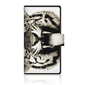 CaseMarket 【手册式】 Y! mobile DIGNO C (404KC) 超薄外壳 针脚模型 [ CaseMarket Zoo I love Animals ! - Amurl Tora] 404KC-VCM2S2573