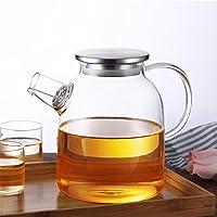 Prointxp 加厚花茶壶玻璃茶具耐热玻璃水壶茶壶冷水壶大容量养生壶玻璃壶 (1600ml)