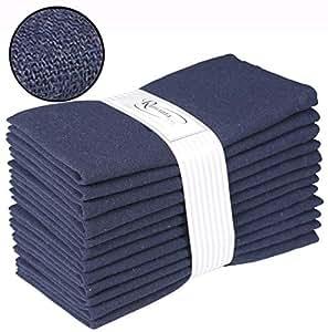 Ramanta Home 餐巾 12 件装 *蓝 18x18 Every Day Napkin 38419