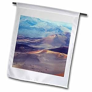 danita delimont–夏威夷–haleakala CRATER 毛伊岛夏威夷–us12bfr0007–BERNARD friel–旗帜 12 x 18 inch Garden Flag