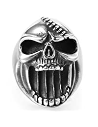 Jude Jewelers 复古不锈钢骷髅骑行者哥特式戒指,开瓶器