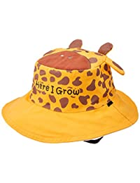 Flap Jack Kids(FlapJackKids)可逆夏季帽子 长颈鹿/斑马 黄/白 1件 LUV0119M