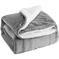 Bedsure 羊羔绒毛毯 双面 Fuzzy 床毛毯 超细纤维四季奢华蓬松毛毯 适用于床或沙发床