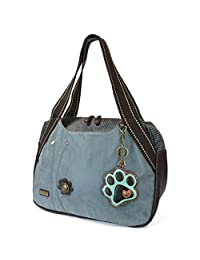 Chala Large Bowling Tote Bag with coin purse Indigo