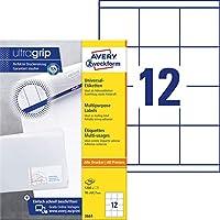 Avery Zweckform 3661 通用标签(A4 纸 哑光纸 1200 标签,70 x 67.7 毫米)100 张白色