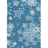 Décopatch 纸张 No. 521 包,20 张(395 x 298 毫米,非常适合您的纸器)蓝色,雪花