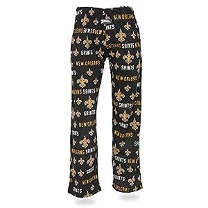Zubaz NFL 新奥尔良圣徒女士舒适裤子,黑色,XL 码