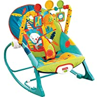 Fisher-Price婴幼儿幼童摇杆玩具,野生动物园图案(最大承重:约18kg)