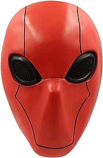 Cafele 红帽面罩全头乳胶头盔游戏角色扮演头盔道具