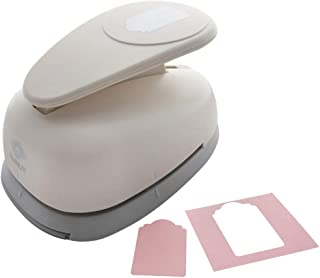 Bira 8.89 厘米價格標簽 1 個杠桿動作超大手工打孔紙工藝剪貼簿卡片藝術(8.89 厘米標簽壓花對角測量)
