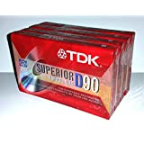 TDK Superior Normal Bias D90 IEC I/Type I For Everyday Recording Audio Cassette Tapes - 4 Pack