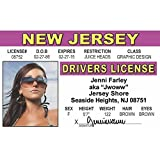 Signs 4 Fun NJIDS3 Jenni-Jwoww 司机许可证