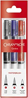 Caran d'Ache 凯兰帝 Set with 3 brushes with a water container 纤维笔刷三件套