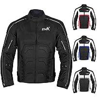 男式紡織摩托車夾克雙運動耐力摩托車騎行夾克透氣 CE ARMORED 防水 XX-L 黑色 HHR-Tex-Black-XX-Large