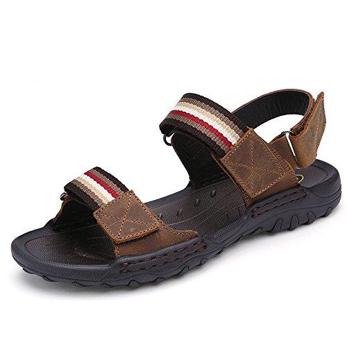 Unbeaten 舒适透气 速干鞋 头层牛皮 溯溪鞋 真皮 户外鞋 包头 凉鞋 沙滩鞋 涉水鞋 大尺码 男鞋