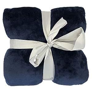Allgala 60x45 超柔软法兰绒毛绒轻质抱毯 *蓝