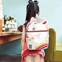 韩国杯具熊(beddybear) 儿童书包 幼儿园书包 小学生卡通图案背包 男女萌宠双肩包 (粉色独角兽)