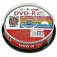 磁気研究所 HI DISK DVD-R CPRM対応 デジタル録画用 16倍速 4.7GB ワイドエリアホワイトプリンタブル スピンドルケース スピンドルケース 10枚