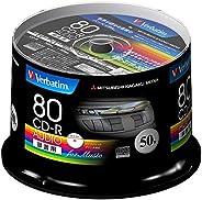 三菱化學媒體 Verbatim 音樂用CD-R 80分鐘 1次錄音用 48倍速MUR80FP50SV1 主軸箱 50枚