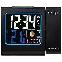 LA CROSSE Technology wt551 - BLA 收音机闹钟, 带投影, 红色, 彩色 LCD - 显示屏, 黑色