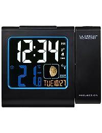 LA CROSSE Technology wt551 - BLA 收音機鬧鐘, 帶投影, 紅色, 彩色 LCD - 顯示屏, 黑色