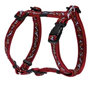 ROGZ Dog H-Harness 保护性头盔 红色骨头 Medium Scooter