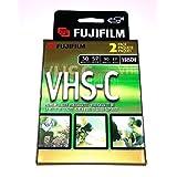 2 FujiFilm 视频 TC-30 VHS-C 优质录像带 VHS 摄像机盒