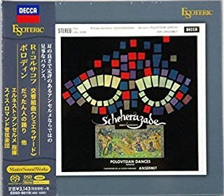 "Ansermet: Rimsky-Korsakov/ Scheherazade, Op.35. Mussorgsky/ Dance of the Persian Slaves from ""Khovanshchina"" , Glinka/ Ruslan and Lyudmila: Overture, Borodin/ Dance of the Polovtsian Maidens, Polovtsian Dances from ""Prince Igor"", ESOTERIC SACD/CD Hybrid ESSD-90119 JAPAN -海外卖家直邮"