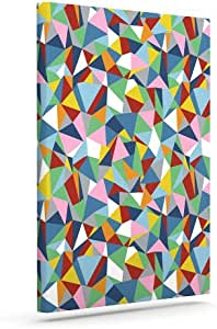 "Kess InHouse Project M ""抽象""彩虹抽象户外帆布墙艺术 24"" x 30"" PM1025AAC05"