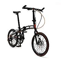 Doppelganger ( Blackmax 系列 ) assaultpack 20寸折叠自行车禧玛诺7速变速铝合金车架黑色 × or 211- R - DP