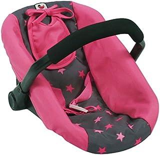Bayer Chic 2000 708 82 娃娃汽车座椅,娃娃背带,星星粉色