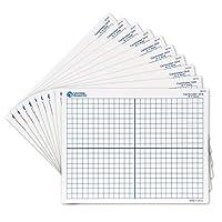 """Learning Resources 双面x-Y轴干擦垫,绘图,数学教室配件,教具,10套,适合6岁以上的人群, 9"""" X 11""""(约22.86 X 27.94 厘米)"""