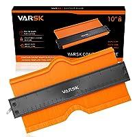 VARSK 带锁 25.4cm 形状复写器模板轮廓工具轮廓测量精确复制形状 - DIY 木工木工地板手工匠必备礼物