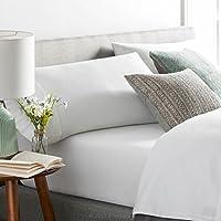 Brookside - 棉混纺床单套装 - 抗皱 - 丰富的棉质外观 - 易于护理面料 - 袋深设计 白色 Split Cal King BS06SCWHCS