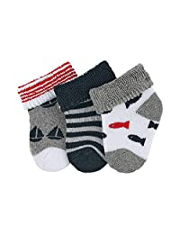 Sterntaler 思丹乐 婴儿袜 3 件装 年龄:0 个月以上 尺寸:新生儿(生产商尺码 0)