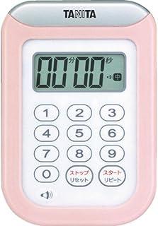 TANITA 百利达 TD-378 秒表 100 分钟计时器 粉色 100分 TD-378 PK